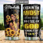 Personalized Black Women Storm DNB2412001 Stainless Steel Tumbler