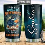 Personalized Book Dragon TTB2412002 Stainless Steel Tumbler