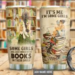 Personalized Book Girl TTB2412003 Stainless Steel Tumbler
