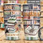Personalized Books And Cats Bookshelf HLB2412004 Stainless Steel Tumbler