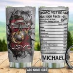 Personalized Marine Corps Nutrition Facts HLB2412007 Stainless Steel Tumbler