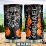 Personalized Metal Skull Machine HLB2412008 Stainless Steel Tumbler