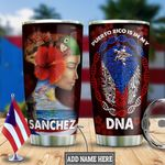 Personalized Puerto Rico Girl HLZ2412010 Stainless Steel Tumbler