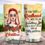 Redhead Will Do It Twice Personalized KD2 HRX2412005 Stainless Steel Tumbler