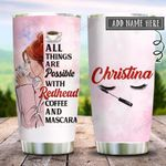 Redhead Mascara Coffee Personalized KD2 HRX2412004 Stainless Steel Tumbler