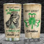 Tattooed Girl Get Lucky Personalized KD2 BGM2412004 Stainless Steel Tumbler