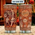 Wooden Style Native American Personalized KD2 MAL2412019 Stainless Steel Tumbler