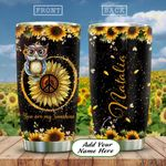 Owl Hippie Personalized KD2 HAL2412010 Stainless Steel Tumbler