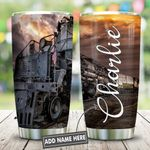 Old Railroad Personalized KD2 HNL2412008 Stainless Steel Tumbler