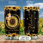 Cat Hippie Personalized KD2 HAL2412002 Stainless Steel Tumbler