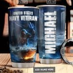 Navy Veteran Personalized PYR2512011 Stainless Steel Tumbler