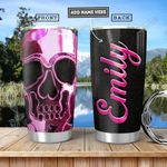Skull Metal Style Personalized PYR2512013 Stainless Steel Tumbler