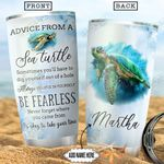 Turtle Advice Personalized NNR2512016 Stainless Steel Tumbler