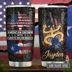 Puerto Rican Roots Personalized KD2 HRX2512001 Stainless Steel Tumbler