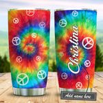 Peace Tie Dye Personalized KD2 BGM2512004 Stainless Steel Tumbler
