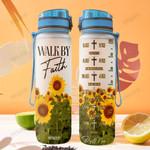 Faith Sunflower THA2512010 Water Tracker Bottle