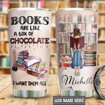 Personalized Book Chocolate Girl TTB2512005 Stainless Steel Tumbler