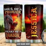 Personalized Dragon Heart HLB2512006 Stainless Steel Tumbler