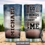 Personalized Football Christ HLS2512010 Stainless Steel Tumbler