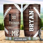 Personalized Football Christ DNS2512009 Stainless Steel Tumbler