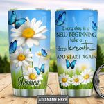 Personalized Daisy New Begining HLS2512008 Stainless Steel Tumbler
