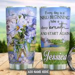 Personalized Daisy New Begining HLS2512007 Stainless Steel Tumbler