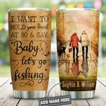 Old Couple Fishing Personalized KD2 HNL2512008 Stainless Steel Tumbler