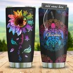 Turtle Hippie Personalized KD2 BGM2612004 Stainless Steel Tumbler