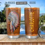 Native American Leather Style Personalized NNR2612005 Stainless Steel Tumbler