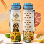 Otter Sunflowers THA2612014 Water Tracker Bottle