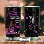 Personalized Black Women Faith Possible HAB2612001 Stainless Steel Tumbler