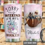 Personalized Book Coffee Weekend TTB2612002 Stainless Steel Tumbler