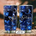 Personalized Butterfly Gem And Flower HAB2612006 Stainless Steel Tumbler