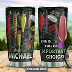 Personalized Fishing Choices HLB2612008 Stainless Steel Tumbler