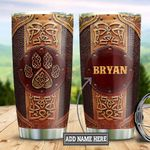 Personalized Viking Bear Leather Style DNB2612018 Stainless Steel Tumbler