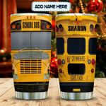 Yellow American School Bus Personalized KD2 MAL2612013 Stainless Steel Tumbler