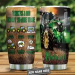Tractor All The Time Green Presonalized KD2 HNL2612011 Stainless Steel Tumbler