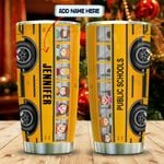 School Bus Lover Personalized KD2 MAL2612007 Stainless Steel Tumbler