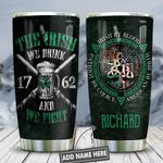 Irish Drink And Fight Personalized KD2 HNL2612004 Stainless Steel Tumbler
