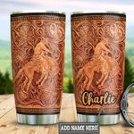 Personalized Horse Trainer Leather Style TTB2812005 Stainless Steel Tumbler