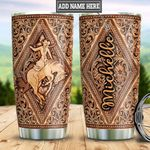 Personalized Horse Training Leather Style TTB2812006 Stainless Steel Tumbler