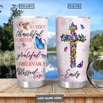 Butterfly Faith Personalized PYR2812002 Stainless Steel Tumbler