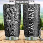 Personalized Viking Loki Fenrir And Jormungandr Metal Style HLB2812011 Stainless Steel Tumbler