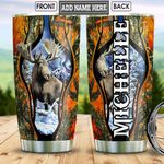 Personalized Moose Hunting HLZ2912016 Stainless Steel Tumbler