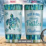 Turtle Jewelry Style Girl Lover Personalized KD2 BGM2912006 Stainless Steel Tumbler