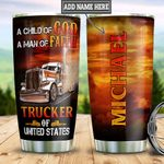 Personalized Trucker American TTB3012011 Stainless Steel Tumbler