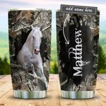 White Horse Personalized KD2 BGM3012009 Stainless Steel Tumbler