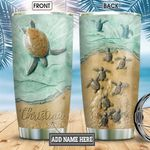 Turtle Ceramic Style Personalized KD2 BGM3012007 Stainless Steel Tumbler