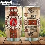 Personalized Old Woman Native American HAZ3012016 Stainless Steel Tumbler