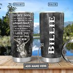 To Son Deer KD4 Personalized HHA3012033 Stainless Steel Tumbler